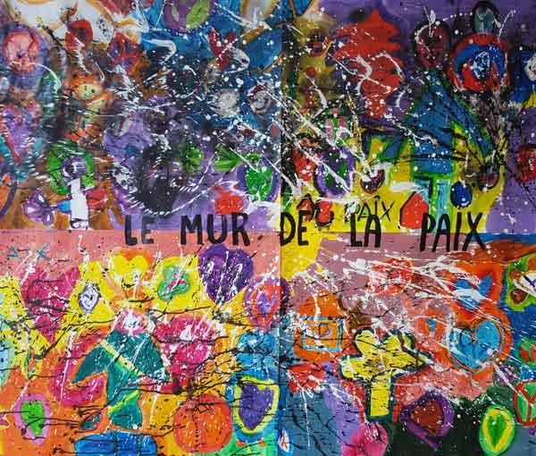 Le Mur de la Paix (École primaire la Vallée, élèves de CM2 - 08 120 Bogny/Meuse)